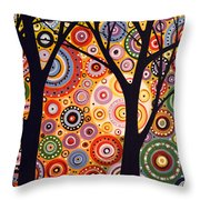 Abstract Modern Tree Landscape Distant Worlds By Amy Giacomelli Throw Pillow