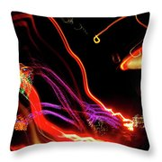 Abstract Neon Lights Throw Pillow