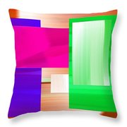 Abstract Number Three Throw Pillow