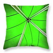 Abstract Of Green Throw Pillow