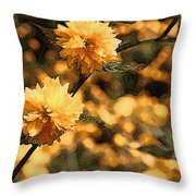Abstract Of Yellow Flowers Throw Pillow