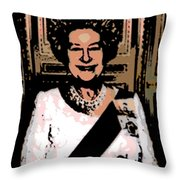 Abstract Portrait Of A Queen Throw Pillow