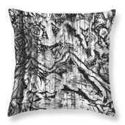 Abstract Print Throw Pillow