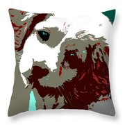 Abstract Pup Throw Pillow