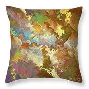Abstract Puzzle Throw Pillow by Deborah Benoit