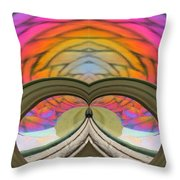 Abstract Rainbow Throw Pillow