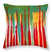 Spilled Shadows  Throw Pillow