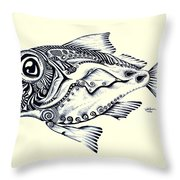 Abstract Redfish Throw Pillow