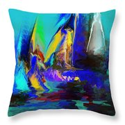 Abstract Regatta Throw Pillow