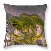 Abstract Rings Throw Pillow