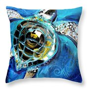 Abstract Sea Turtle In C Minor Throw Pillow