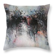 Abstract Seascape00100 Throw Pillow