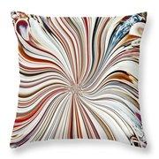 Abstract Seashells Throw Pillow