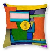 Abstract Shapes Color One Throw Pillow