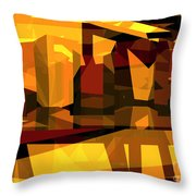 Abstract Sin 27 Throw Pillow