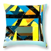 Abstract Sine L 15 Throw Pillow
