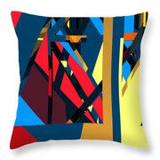 Abstract Sine L 19 Throw Pillow