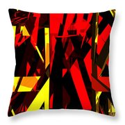Abstract Sine L 20 Throw Pillow