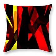 Abstract Sine L 21 Throw Pillow