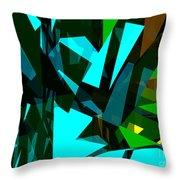 Abstract Sine L 7 Throw Pillow
