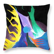 Abstract Space Throw Pillow by Jera Sky