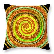 Abstract Spiral Throw Pillow