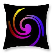 Abstract Spiral Color Throw Pillow