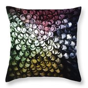 Abstract Straws Throw Pillow