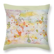 Abstract Summer Sky Watercolor Painting Throw Pillow
