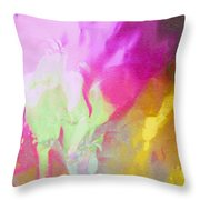 Abstract Summer's Bounty Throw Pillow