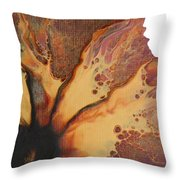 Abstract Sunflower Aceo Throw Pillow