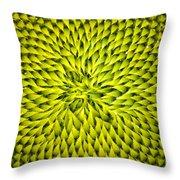 Abstract Sunflower Pattern Throw Pillow