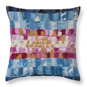 Abstract Sunset I Throw Pillow