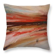 Abstract Sunset II Throw Pillow
