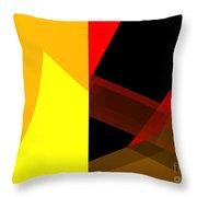 Abstract Tan 10 Throw Pillow