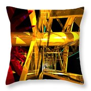 Abstract Tan 12 Imaginary Engine Throw Pillow
