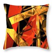 Abstract Tan 2 Throw Pillow
