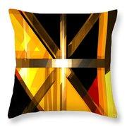 Abstract Tan 3 Throw Pillow