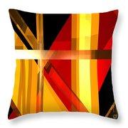 Abstract Tan 7 Throw Pillow