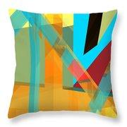 Abstract Tan 8 Throw Pillow