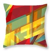 Abstract Tan 9 Throw Pillow