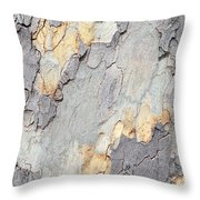 Abstract Tree Bark II Throw Pillow