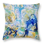 Abstract Under Water Throw Pillow