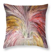 Abstract Vase And Energy Mouvement Throw Pillow