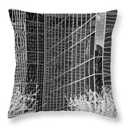 Abstract Walls Black And White Throw Pillow