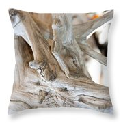 Abstract Wood Throw Pillow