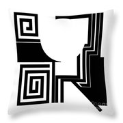 Abstract 2. Throw Pillow