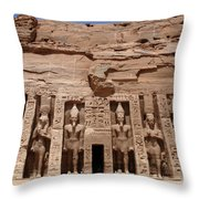 Abu Simbel Egypt 3 Throw Pillow