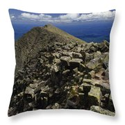 Abutting The Clouds, Hikers Rest Atop Throw Pillow