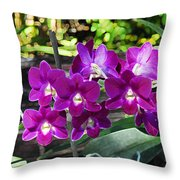 Accented Purple Orchid  Throw Pillow